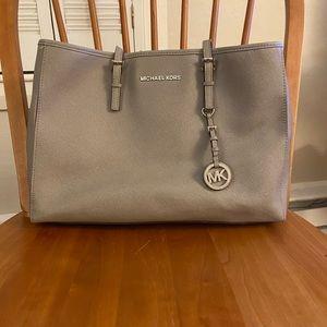 Light Grey Michael Kors Tote Bag